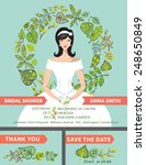 retro wedding invitation with... | Shutterstock .eps vector #248650849
