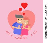 valentines day couple   vector... | Shutterstock .eps vector #248655424