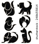 dogs silhouettes | Shutterstock .eps vector #248655814