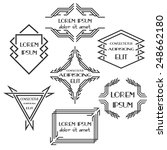 set abstract badges and labels. | Shutterstock .eps vector #248662180