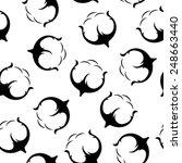 cotton seamless pattern. | Shutterstock .eps vector #248663440