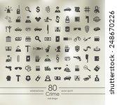 set of crime icons | Shutterstock .eps vector #248670226