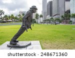 Small photo of MIAMI,FL - NOVEMBER 29, 2013: Michael Jackson statue in Miami.Michael Jackson was a pop singer and dancer selling millions discs all over the world
