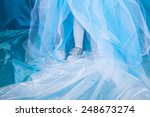 blue dress and child legs | Shutterstock . vector #248673274