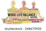 work life balance and wellbeing | Shutterstock . vector #248675920