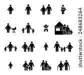 family icons set | Shutterstock .eps vector #248683264