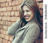 beautiful smiling woman  | Shutterstock . vector #248686480