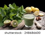 shake nettles with kiwi apples... | Shutterstock . vector #248686600