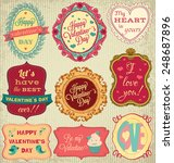 valentine's day cards...   Shutterstock .eps vector #248687896