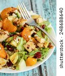 healthy green salad with... | Shutterstock . vector #248688640