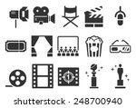movies vector illustration icon ... | Shutterstock .eps vector #248700940