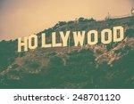 december 2014. famous hollywood ... | Shutterstock . vector #248701120