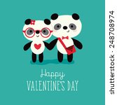 valentine's day card template... | Shutterstock .eps vector #248708974