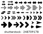 a set of silhouettes arrows ... | Shutterstock . vector #248709178