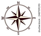 the emblem of the compass rose. ... | Shutterstock . vector #248709193