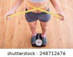 top view of pretty slim woman... | Shutterstock . vector #248712676