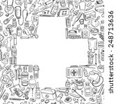 health care and medicine doodle ...   Shutterstock .eps vector #248713636