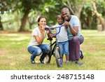 portrait of cute young african... | Shutterstock . vector #248715148