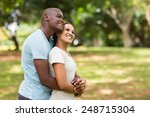 cute young african couple...   Shutterstock . vector #248715304