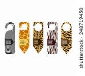 hanger sign   door knob hangers ... | Shutterstock .eps vector #248719450