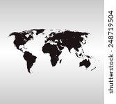 world map | Shutterstock .eps vector #248719504