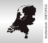 netherlands map | Shutterstock .eps vector #248719513