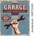 vintage garage poster design | Shutterstock .eps vector #248721430
