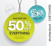 sale tags | Shutterstock .eps vector #248724400