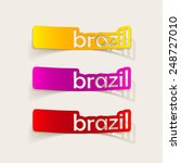 realistic design element  brazil | Shutterstock .eps vector #248727010