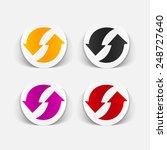realistic design element  arrow ... | Shutterstock .eps vector #248727640