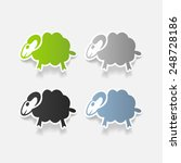 realistic design element  sheep | Shutterstock .eps vector #248728186