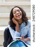 Happy African Female University ...