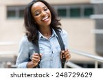 attractive african university... | Shutterstock . vector #248729629