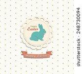 happy easter | Shutterstock .eps vector #248730094