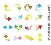 colorful arrow icons | Shutterstock .eps vector #248731564