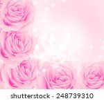 background of flowers roses | Shutterstock . vector #248739310