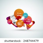 abstract step infographic... | Shutterstock .eps vector #248744479