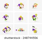 set of step infographics... | Shutterstock .eps vector #248744506