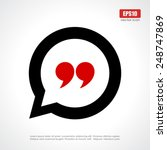 quote icon | Shutterstock .eps vector #248747869