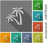 palm trees flat icon | Shutterstock .eps vector #248750164