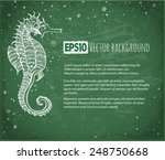 background with seahorse and... | Shutterstock .eps vector #248750668