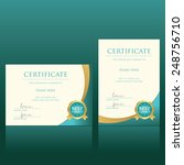 certificate vector template | Shutterstock .eps vector #248756710