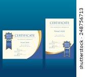 certificate vector template | Shutterstock .eps vector #248756713