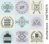 assorted retro design insignias ... | Shutterstock .eps vector #248759074
