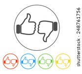 thumb up icon  flat design. flat   Shutterstock . vector #248761756