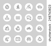 travel web icons set | Shutterstock .eps vector #248763823