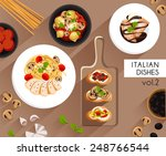 food illustration   italian... | Shutterstock .eps vector #248766544