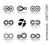 infinity symbols  4  | Shutterstock .eps vector #248771269