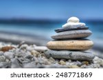 Stones Pile On White Pebbles By ...