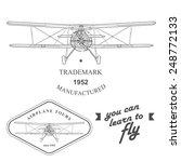 set of vintage airplane labels  ... | Shutterstock . vector #248772133